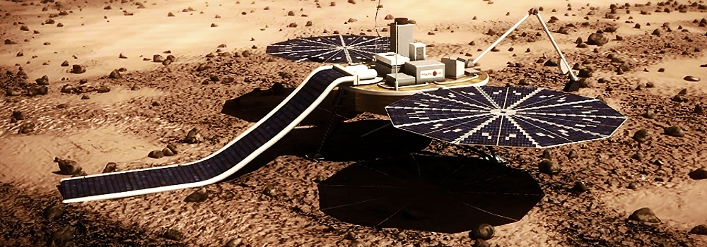 An artist's impression of the Mars One lander scheduled for 2018.  Credit:  Mars One