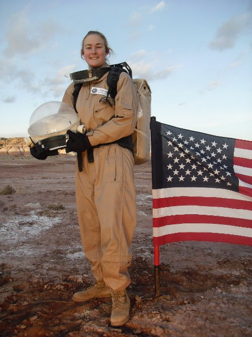 Mars One candidate Heidi Beemer at the Mars Society's Mars Desert Research Station where she just completed a 2-week simulation of a mission on the red planet. Source:  Embry-Riddle University