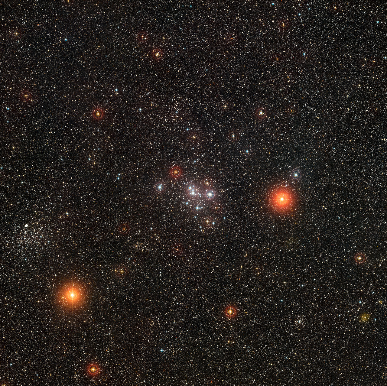 The  ESO's image  created with DSS2 data. Credit: ESO/Digitized Sky Survey 2. Acknowledgement: Davide De Martin