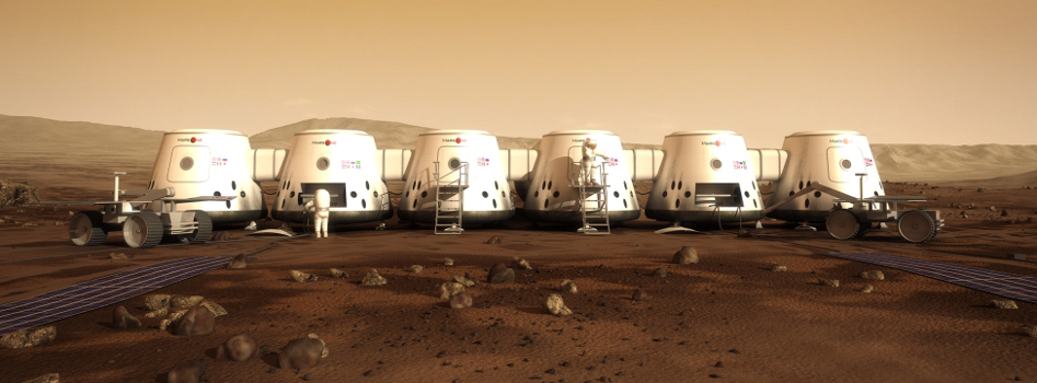 Artist's concept of humanity's future home on Mars.  Source:  Mars One
