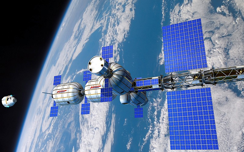 The future of low Earth orbit will belong to private space stations like this concept from Bigelow Aerospace. Just one of its inflatable BA330 modules has three timesmore living space than Nasa's Destiny module on the International Space Station.  Credit:  Bigelow Aerospace