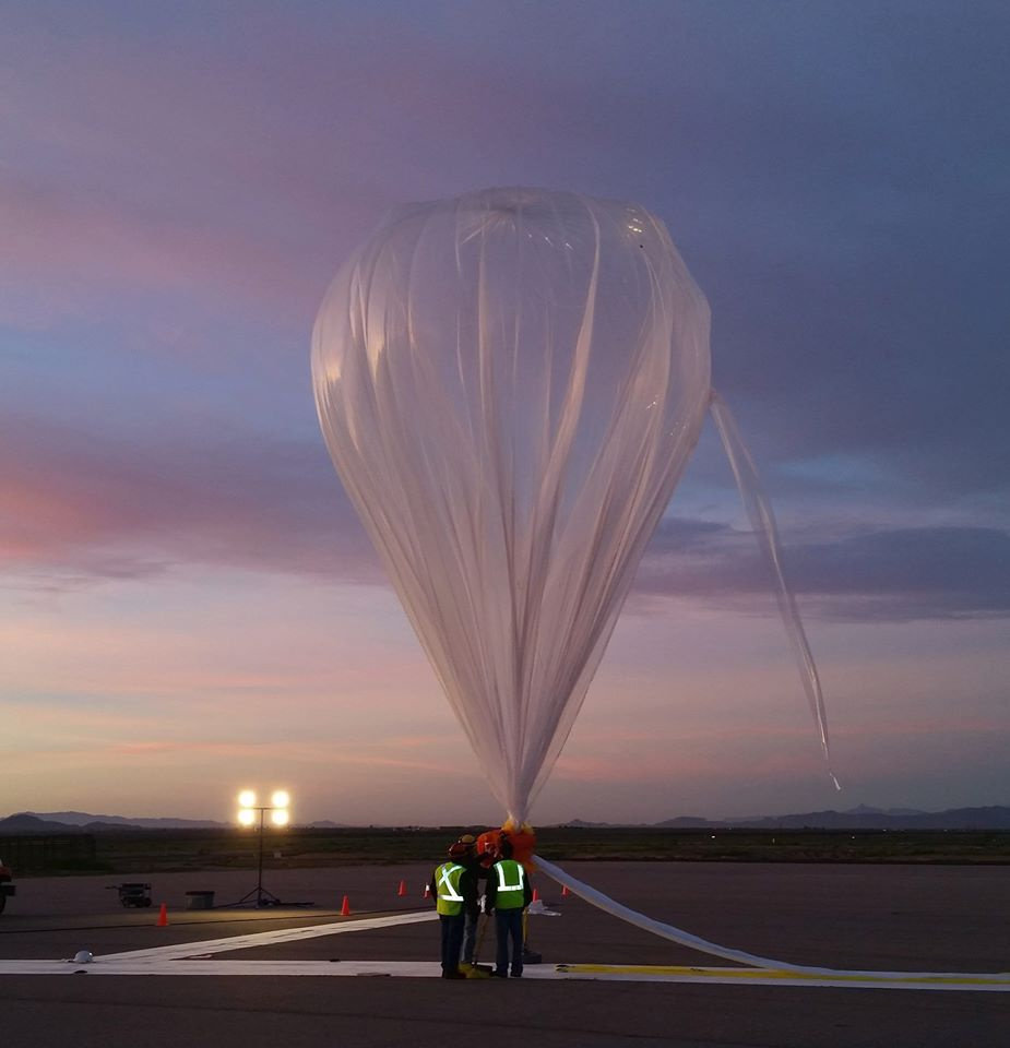 World View prepares for arecord-breaking test flight that carried student-built experiments into near space: Source: World View