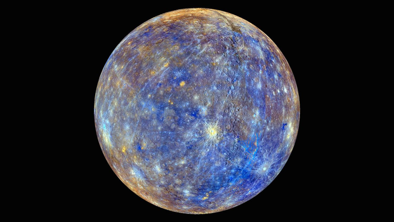 Mercury enhanced to study the first planet's geology. Credit: Nasa/Johns Hopkins University Applied Physics Laboratory/Carnegie Institution of Washington