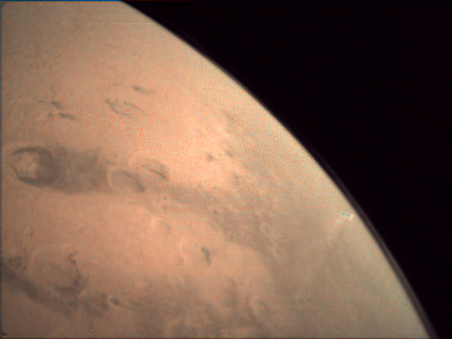 Gale Crater as seen by the Mars Express Visual Monitoring Camera.  Credit:  ESA - European Space Agency ,  CC BY-SA 3.0 IGO
