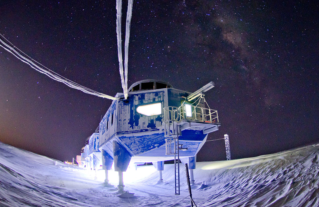No, Britain hasn't landed on Europa. This is the British Antarctic Survey's Halley VI station. The conditions its staff experience during the long Antarctic winter mirror conditions on long duration space missions. Credit: British Antarctic Sociey/Sam Burrell