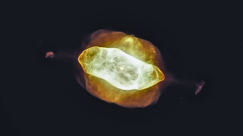 My fiery take on the Saturn Nebula uses the same data as the original scientists' work. Two decades of Moore's Law in action gives amateurs like me powerful processing in cheap computers.   Source: Nasa/Esa Processed by Chris Casper