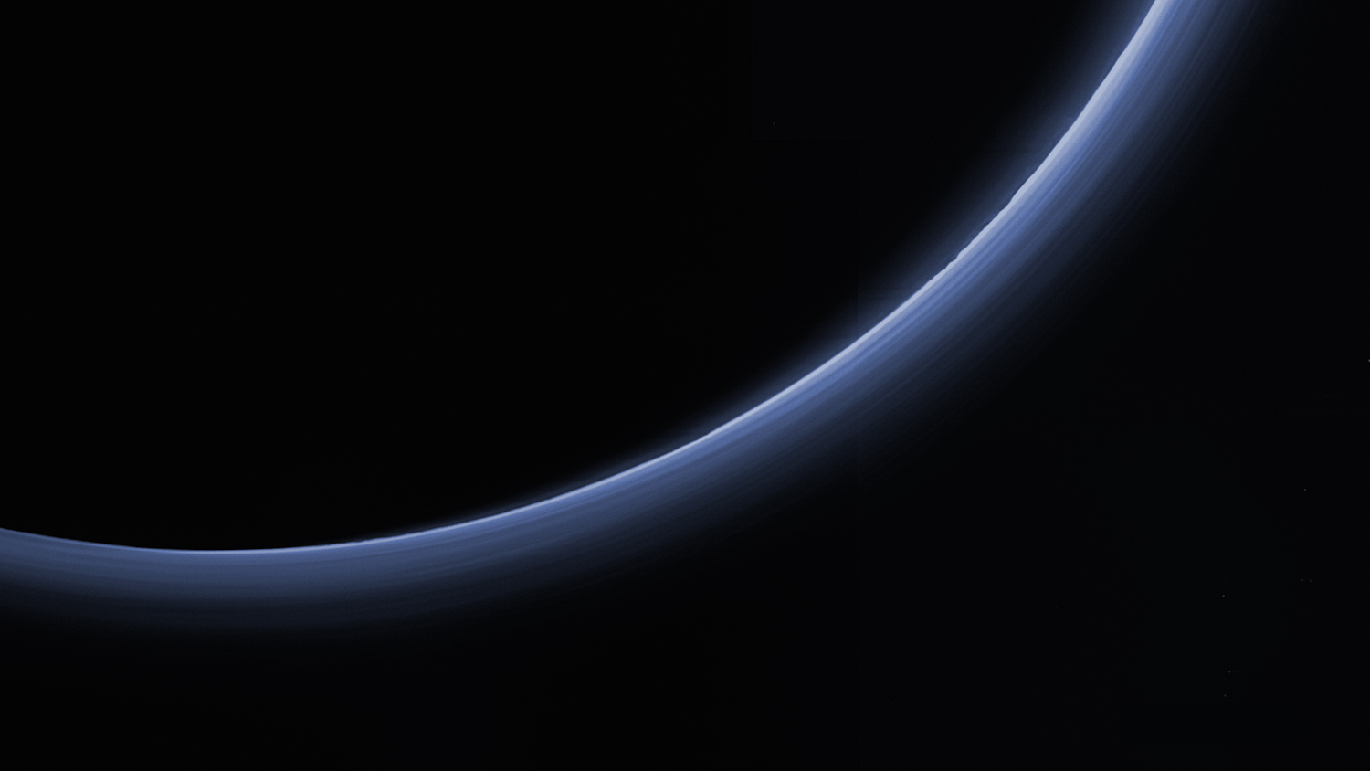 It took the pros with Nasa's New Horizons mission to take this picture of Pluto's atmosphere, but amateur astronomers took the measure of the dwarf's planet thin air from backyard observatories in Australia and New Zealand. Credit:  Nasa/Johns Hopkins University Applied Physics Laboratory/Southwest Research Institute
