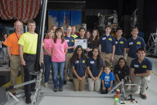 This team of Wisconsin rocket-makers were the only high schoolers competing in Nasa's Mars Ascent Vehicle Challenge.  Credit:  Nasa/MSFC/Charles Beason