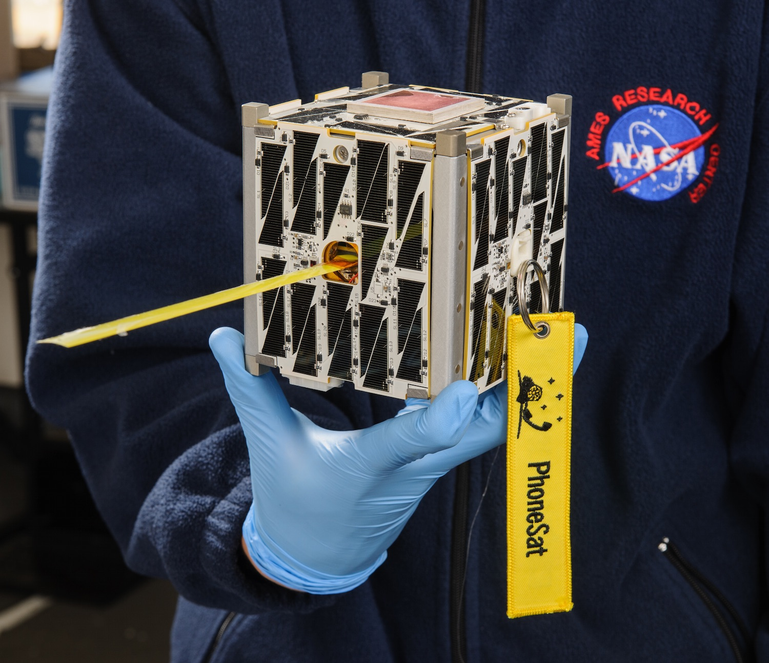 CubeSats,satellites that can fit in the palm of your hand, have changed the space industry. This picture shows Nasa's PhoneSat which used a disassembled smartphone as the on-board computer. Credit:  Nasa