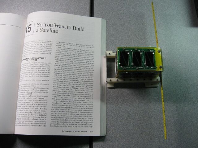 The $50Sat reached orbit in 2013.  Dr. Robert Twiggs, one of the original developers of the CubeSat, created the PocketQube to make space projects more affordable for student and amateur satellite makers.  Credit:  $50Sat
