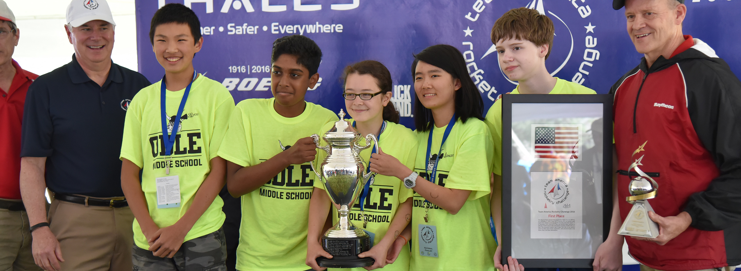 America's rocketry champs on the winners' podium at the Team America Rocketry Challenge. Credit:  Team America Rocketry Challenge