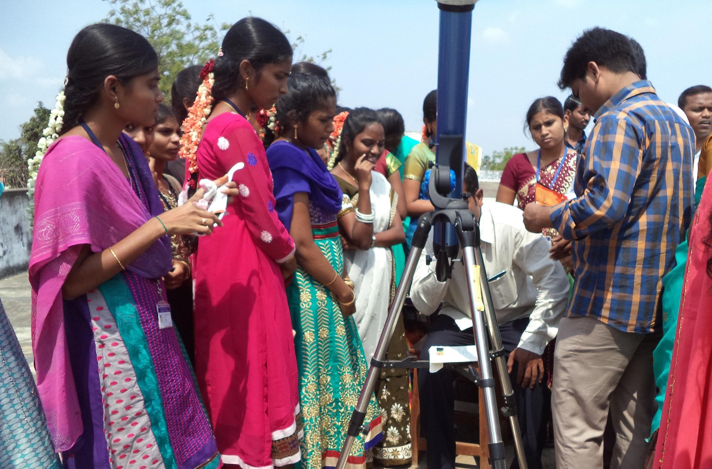 Solar astronomy outreach in India