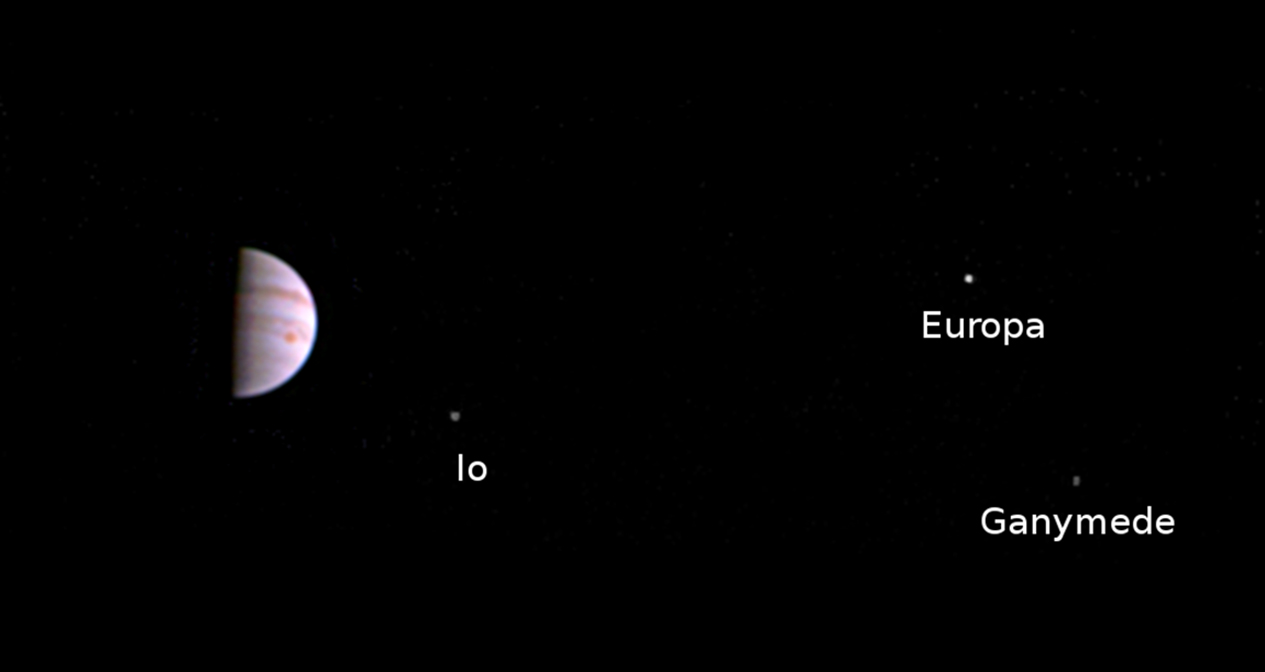 Nasa's Juno spacecraft has an orbit that takes it so far from Jupiter that the giant planet is only a few pixels across in its JunoCam instrument. Amateur astronomers can actually get much better - and many more - pictures all the way from Earth. That is one of the reasons planetary scientists rely on the world's amateur astronomers. Credit:  Nasa/JPL-Caltech/SwRi/MSSS
