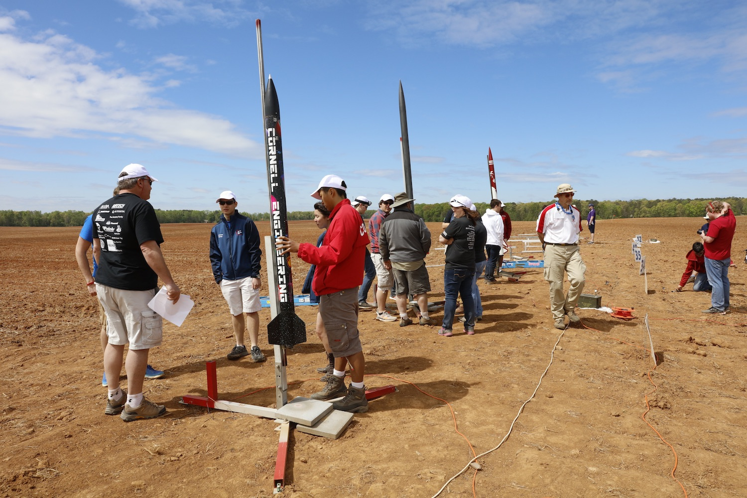 Preparations under way at the 2015-2016 Nasa Student Launch competition. This year's field will include sixty teams from universities and secondary schools in twenty-three states. Credit:  Nasa/MSFC/Emmett Given