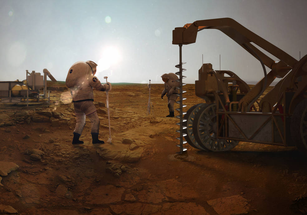 Undergraduate will develop tech for mining ice from beneath the surface of Mars, but it probably won't look like this. Credit:  Nasa Langley Advanced Concepts Lab/Analytical Mechanics Associates