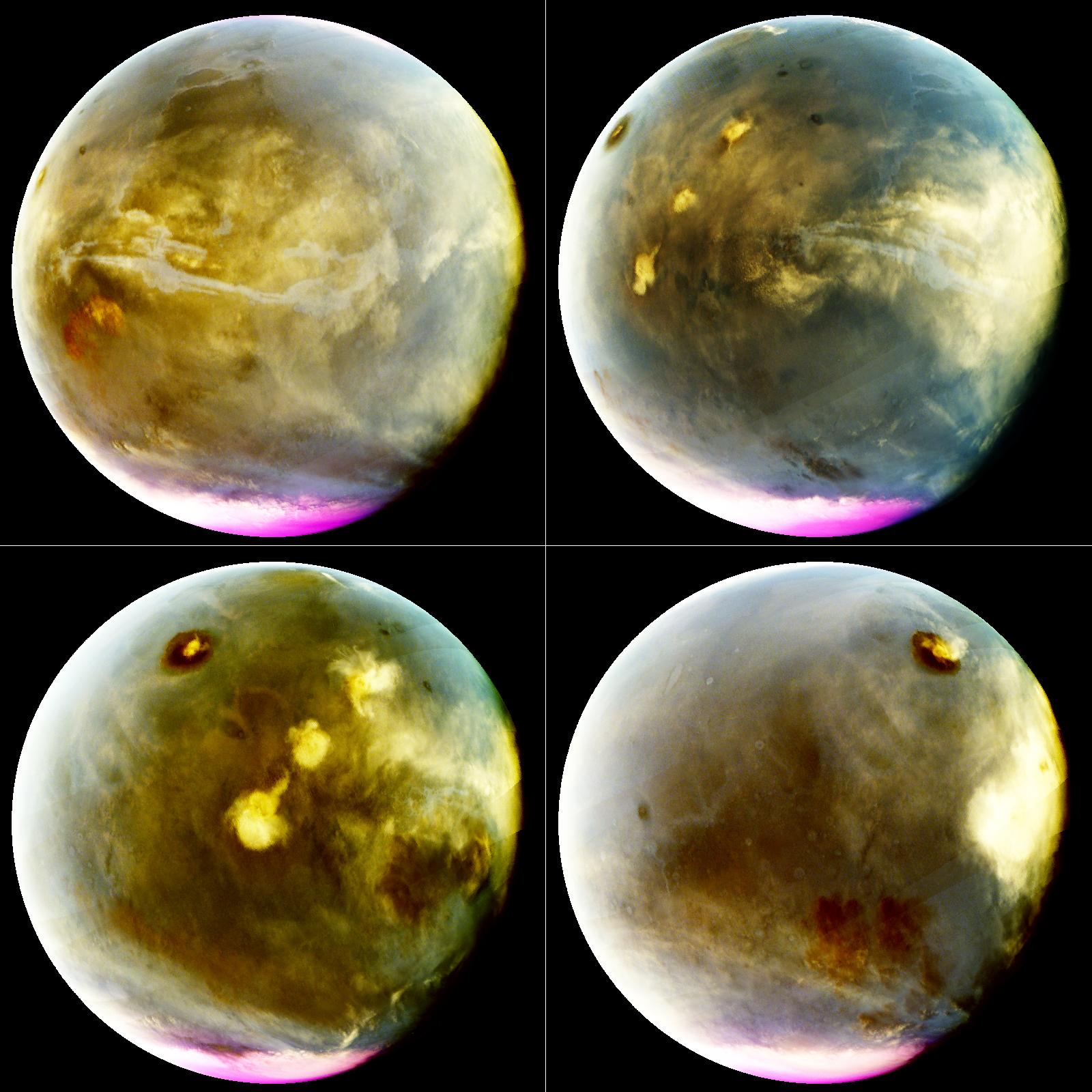 Mars in the ultraviolet taken from Nasa's Maven orbiter. Credit:  Nasa / University of Colorado-LASP / Maven-IUVS