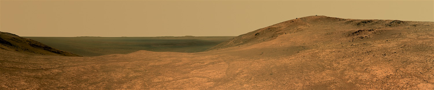 A panorama of Marathon Valley from the Mars Exploration Rover  Opportunity. Credit:  Nasa / JPL-Caltech / Cornell Univ. / Arizona State Univ