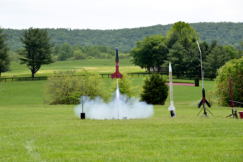 A rocket lifts off from a Virginia pasture at last year's Team America Rocketry Challenge. Thousands of kids competed to enter this year's contest and a shot at representing the United States in world competition.  Source: Team America Rocketry Challenge
