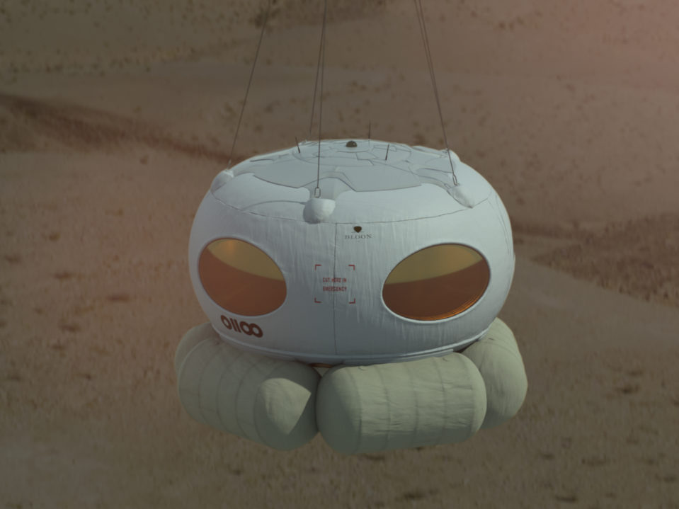 A Bloon with a view. Six tourists plus crew will rise into the stratosphere in a pod like this before parachuting back to Earth.  Credit: Zero2Infinity