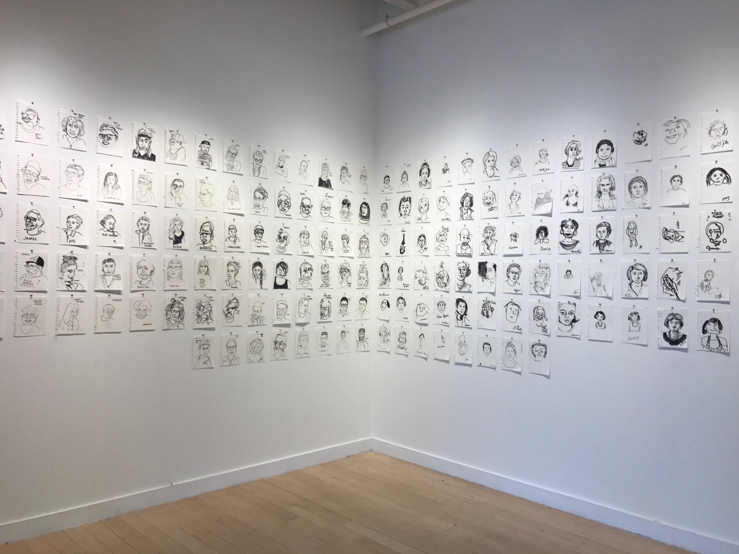 Participatory Portraits Installation