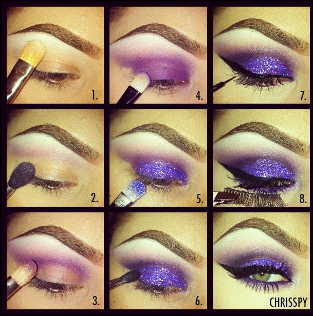 Purple Glitter Pictorial Chrisspy Makeup