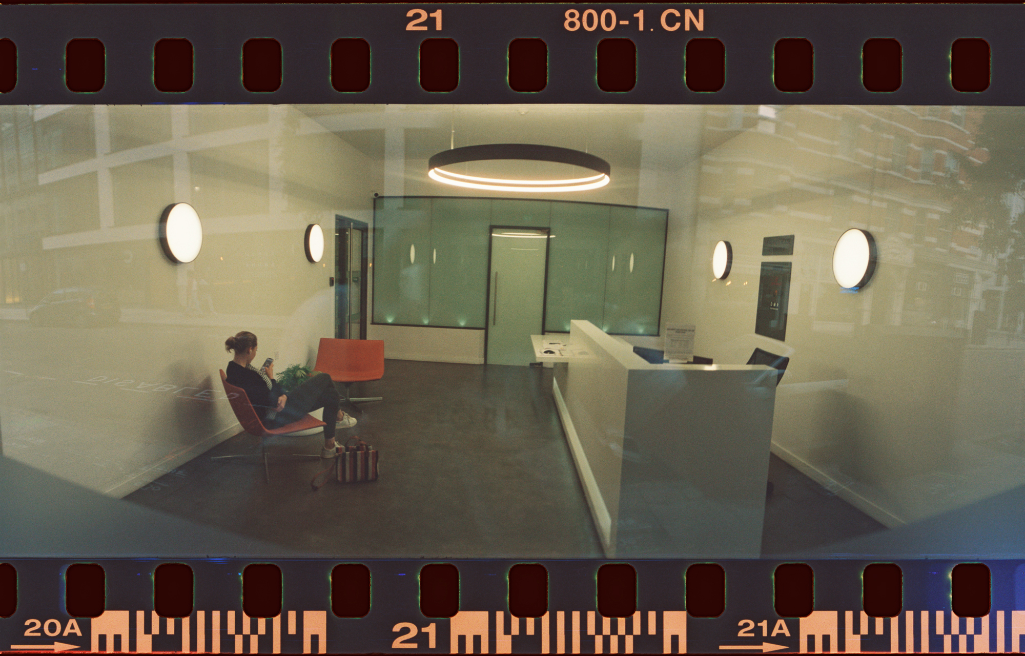 This shot is into an office at night.   Was really testing if the camera could work with the lighting.