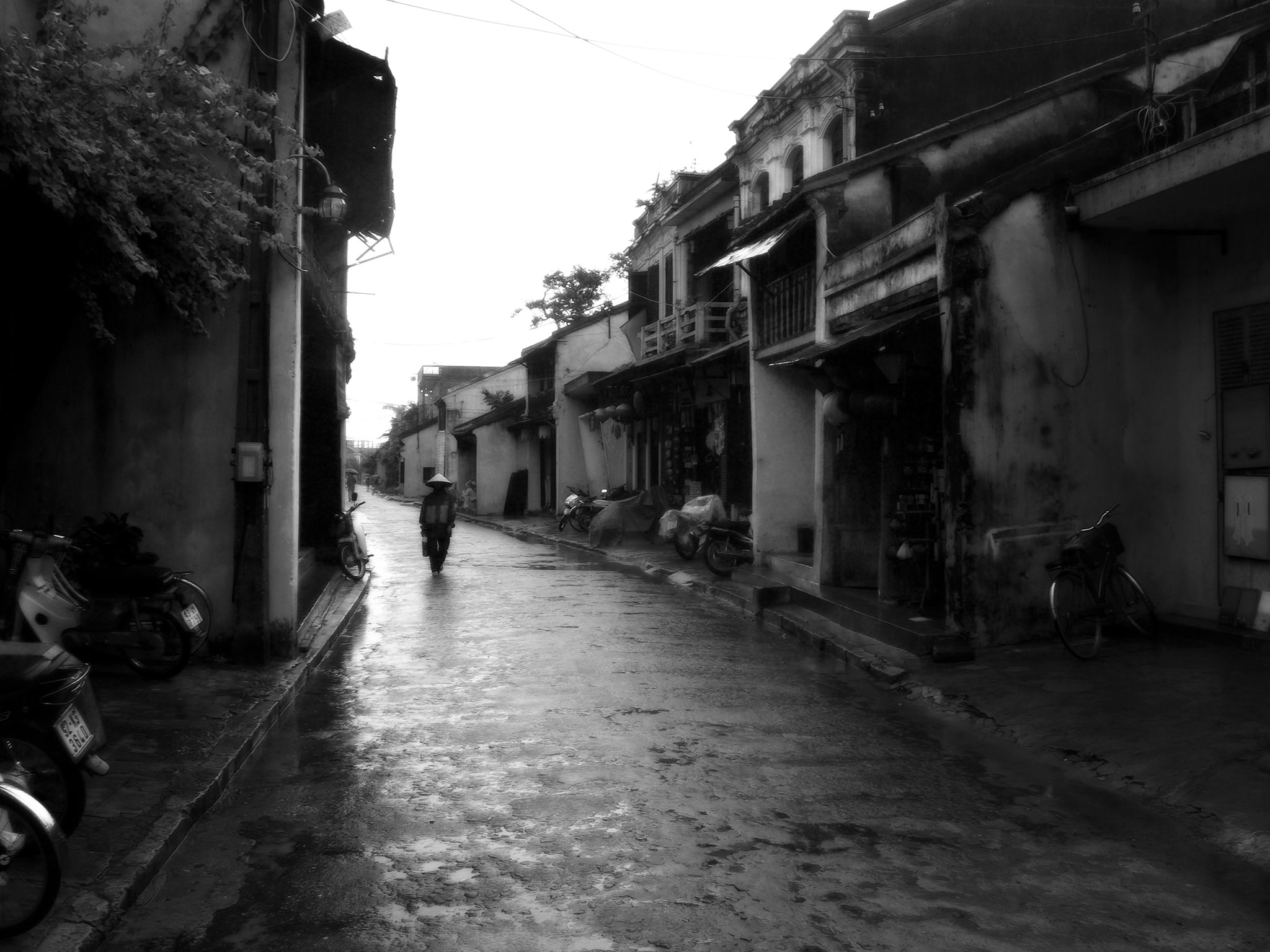 A wet day in Hoi An, Vietnam
