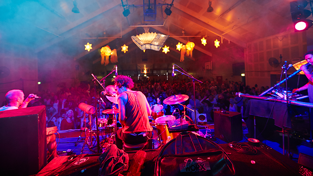OKA rocks the high school hall at Mullum Music Festival 2012