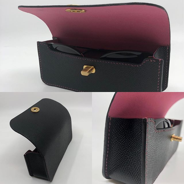 This is Dubs' third leather project, she has a real talent!