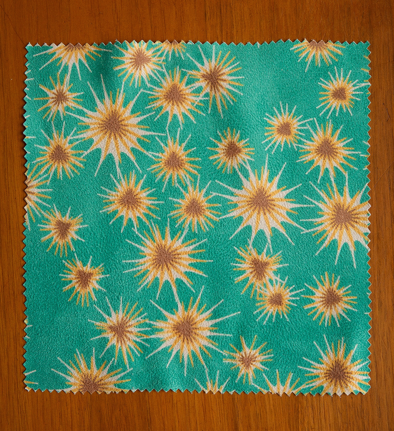 """Thistle"" print in Faux Suede Fabric available at  Spoonflower ."