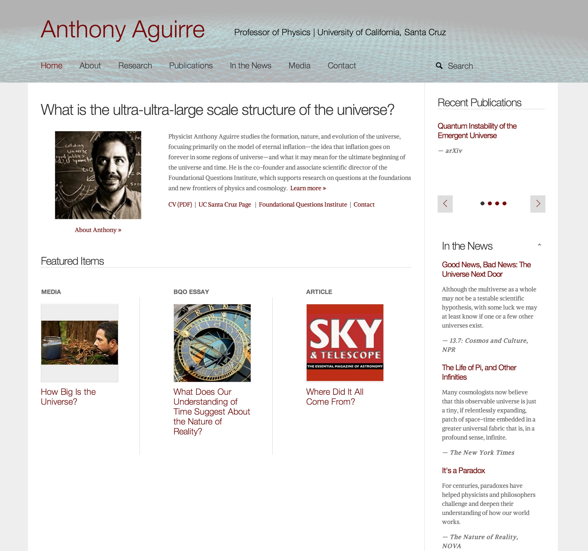 Visit Anthony's ScienceSite