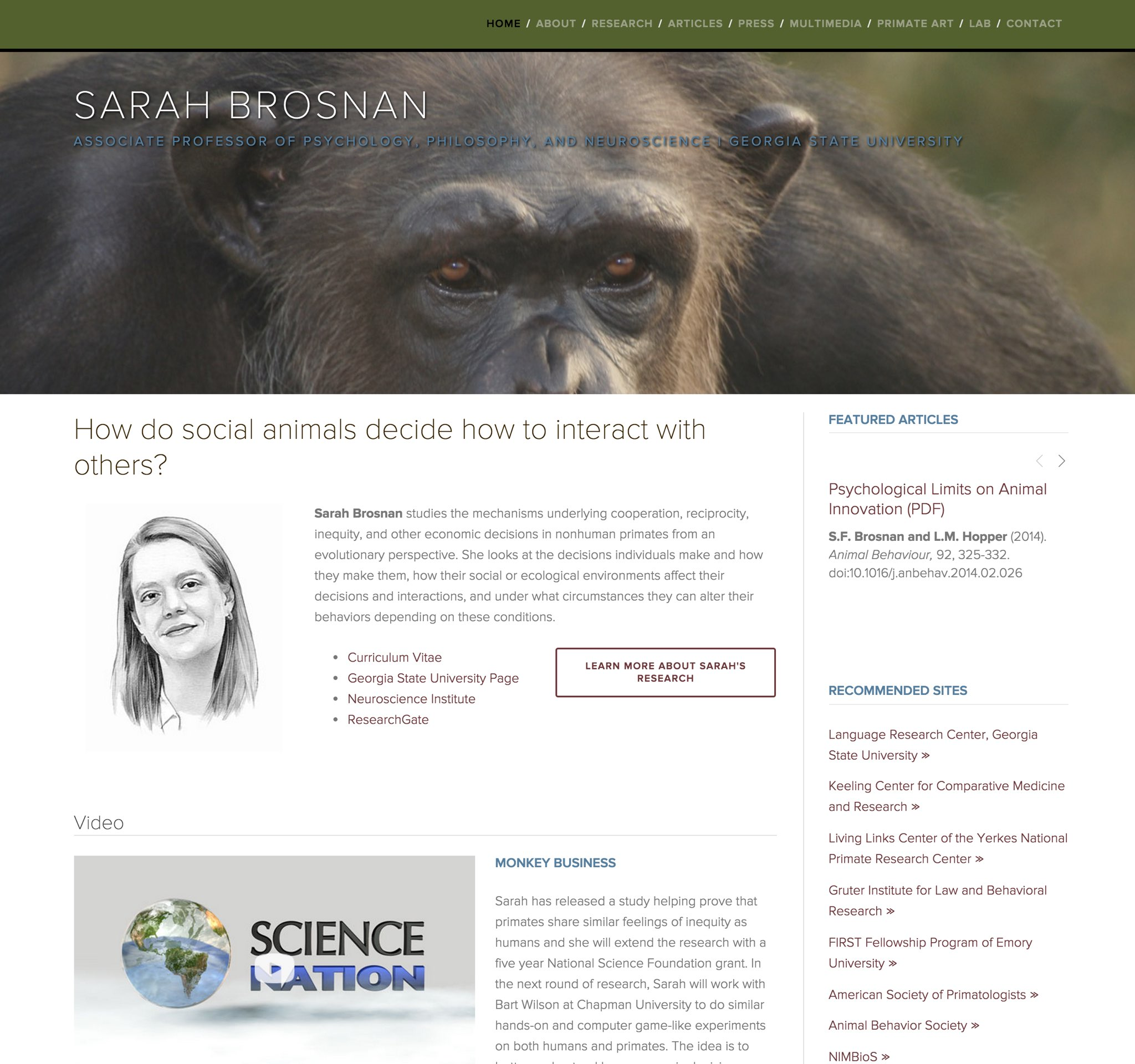 Visit Sarah's ScienceSite