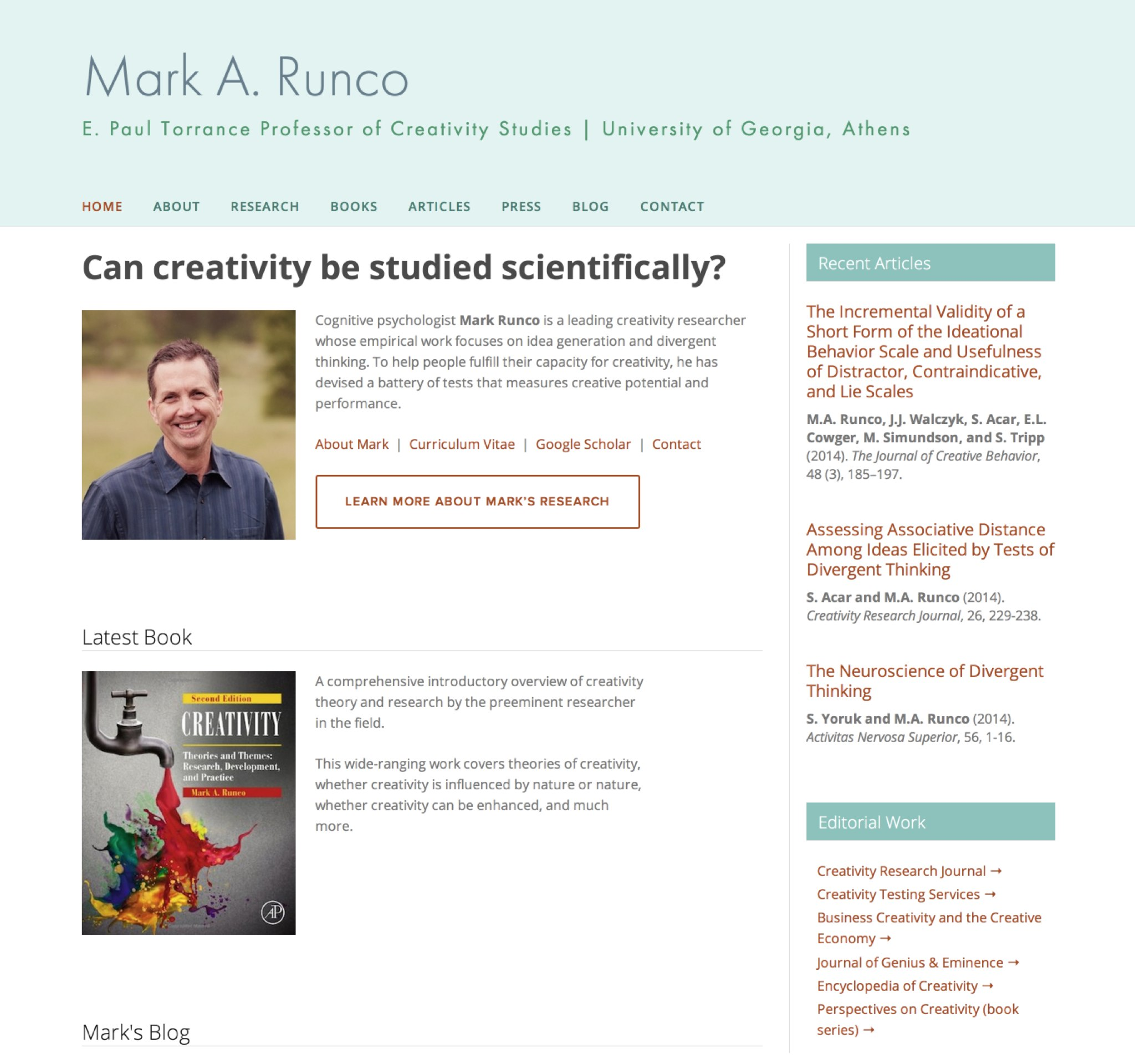 Visit Mark's ScienceSite
