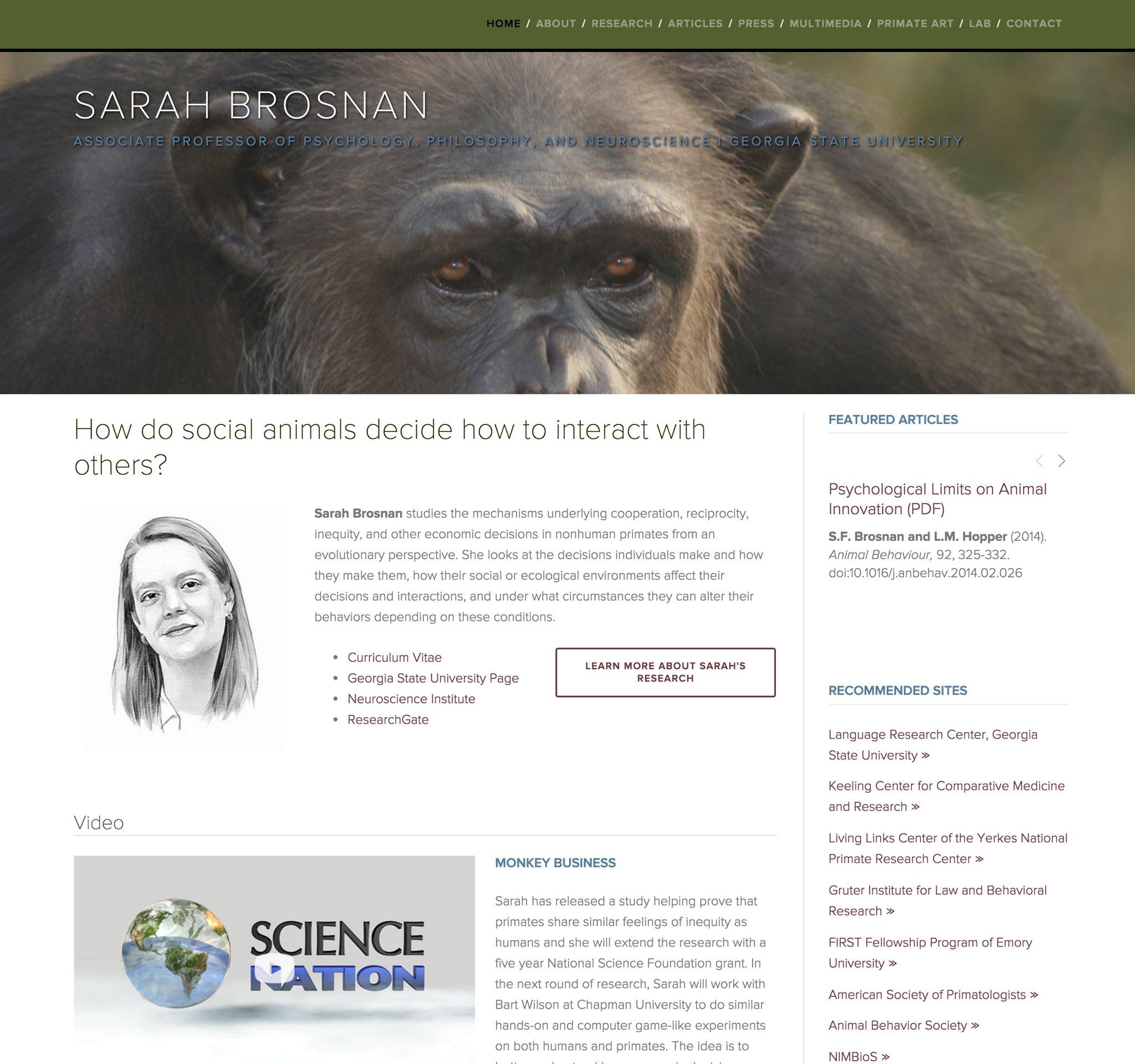 Visit Sarah's ScienceSite
