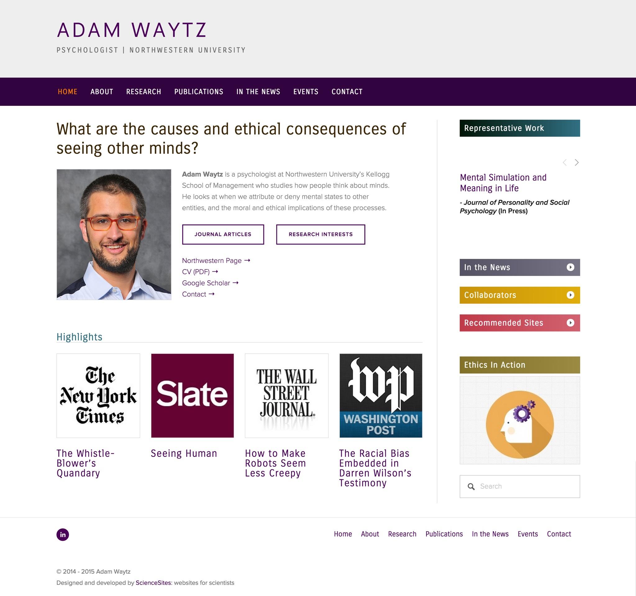 Visit Adam's ScienceSite