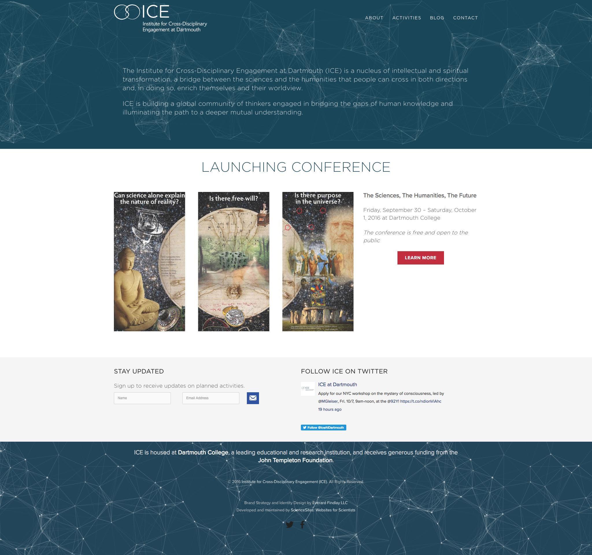 Visit the Institute for Cross Disciplinary Engagement ScienceSite