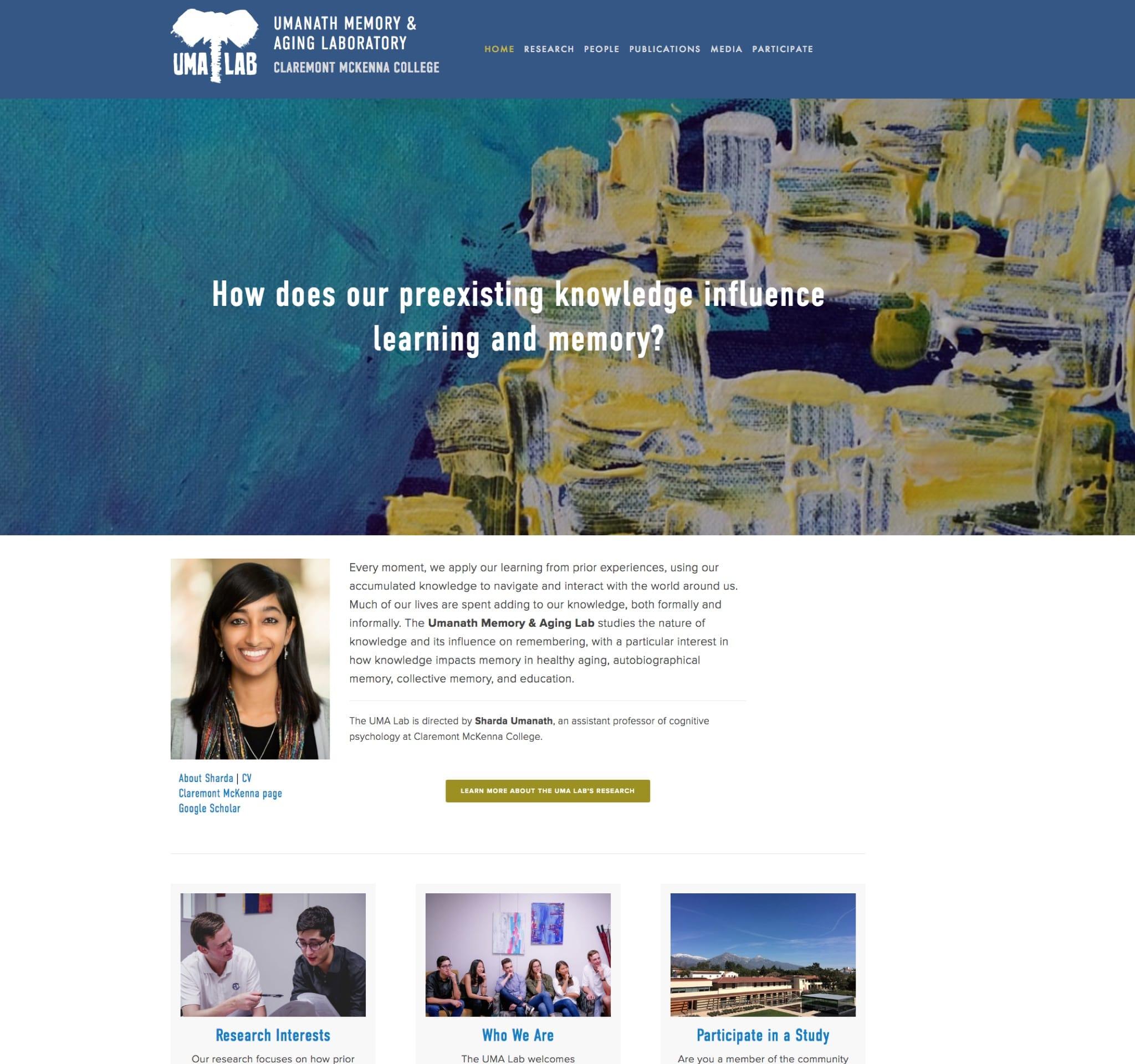 Visit the UMA Lab's ScienceSite