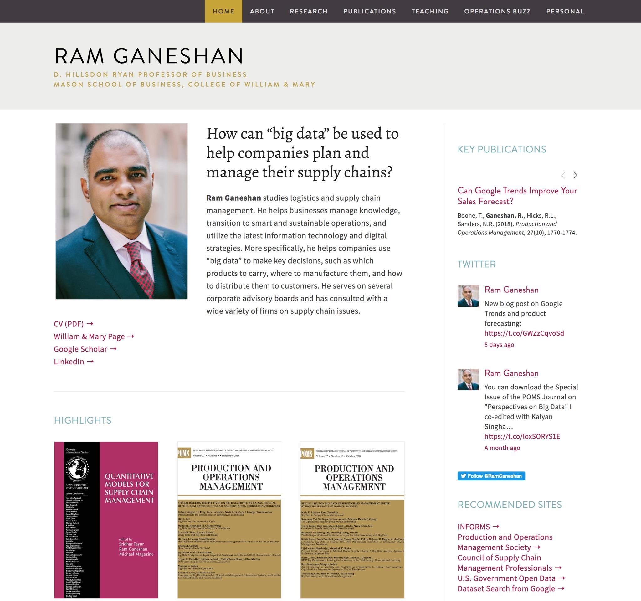 Visit Ram's ScienceSite