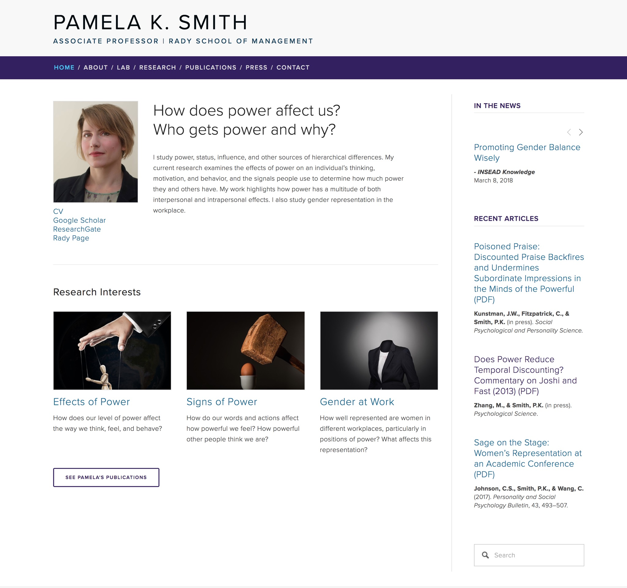Visit Pamela's ScienceSite