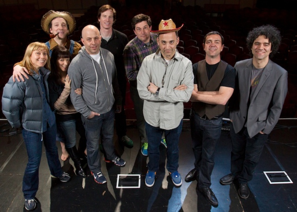 (left to right: Nina Hellman, Jeremy Shamos, Shari Alpert, Rob Huebel, Michael Showalter, me,  Joe Lo Truglio, Peter Salett)