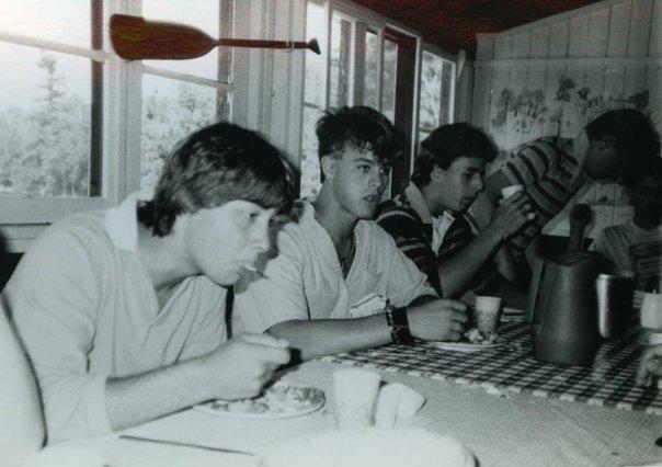At Camp Modin with Craig Wedren, 1985