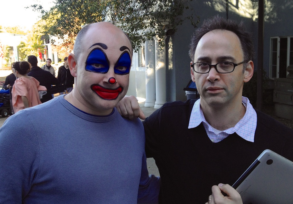 on set with Rob Corddry