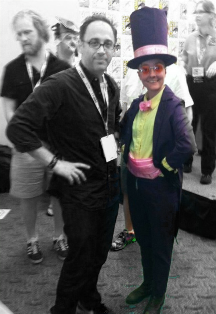"A fan dressed as Superjail's ""Warden"""