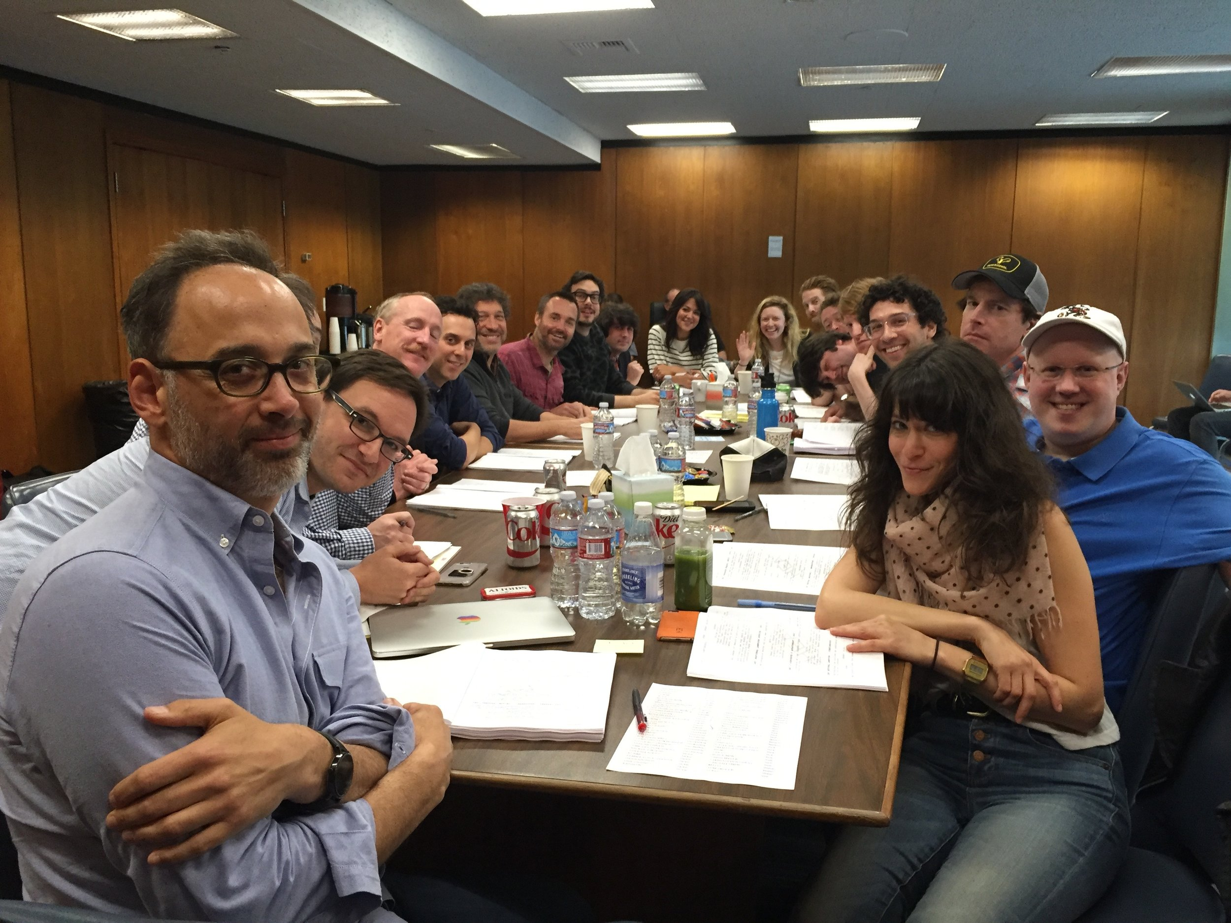 Cast & crew table read for  A Futile and Stupid Gesture