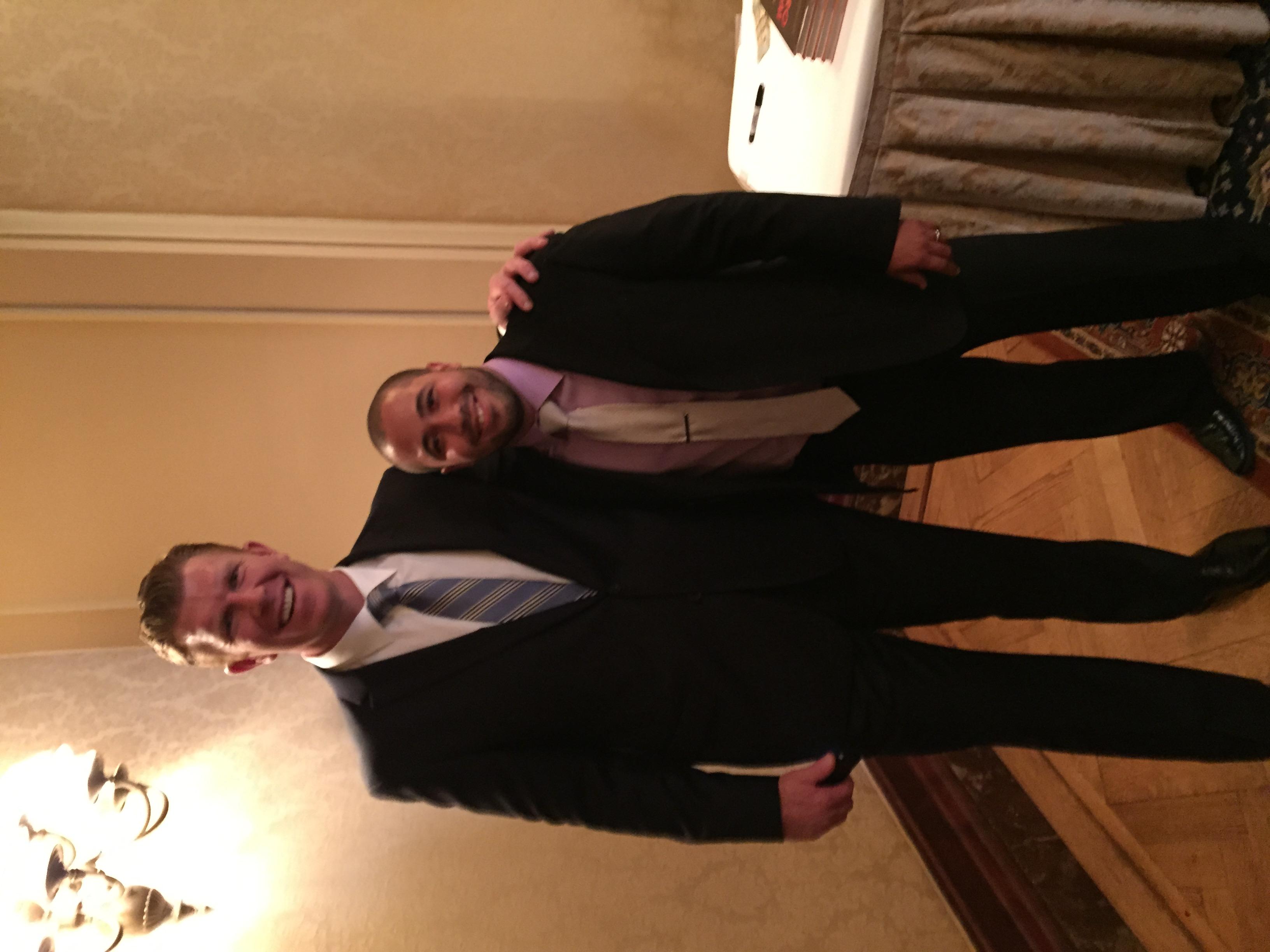 Matt Birk with Mission Director Jimmy Abreu