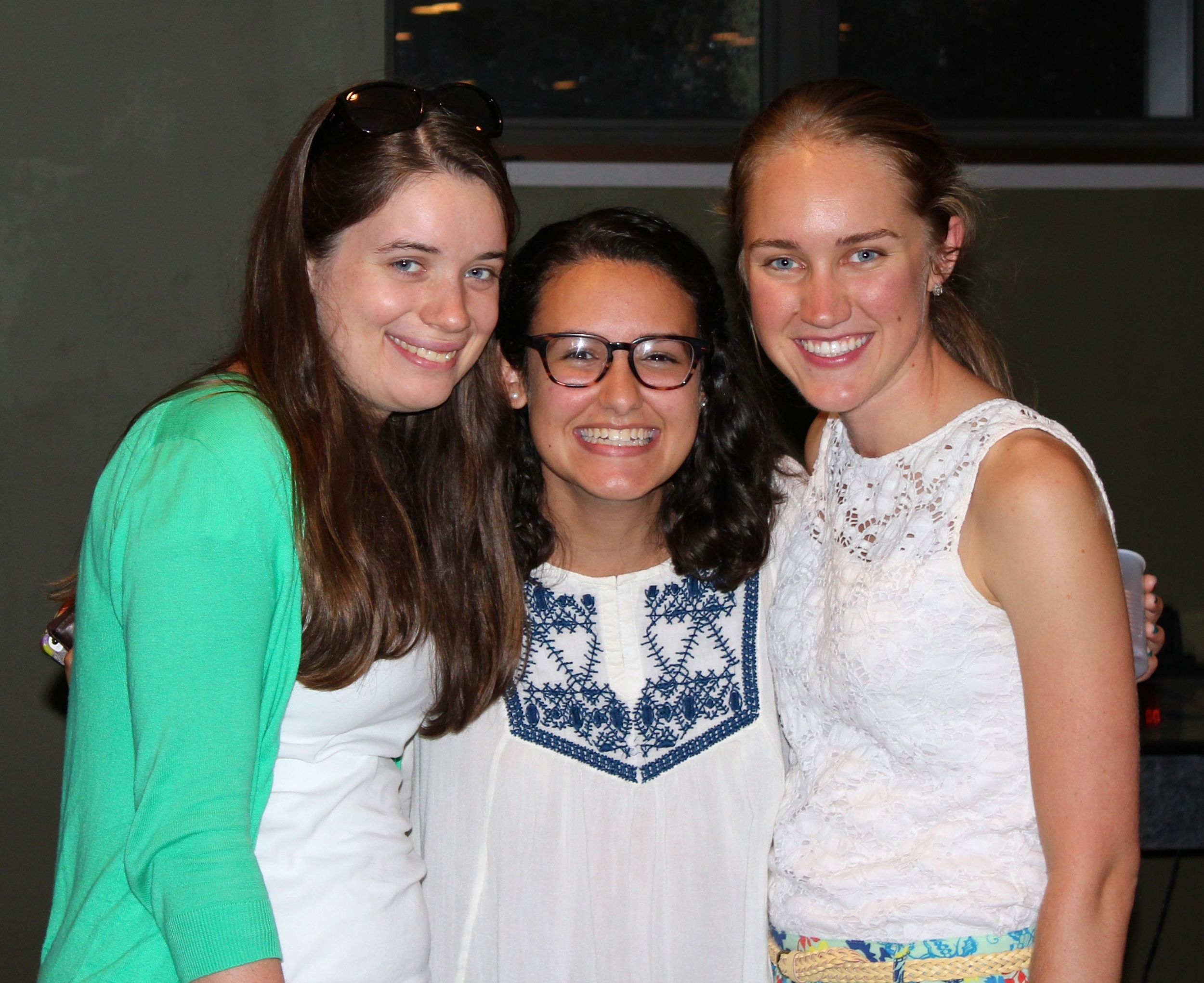 Paola Hegedus (center) with FOCUS Missionary Deirdre Gaughan (left) and SPO Mission Leader  Michela Brooks