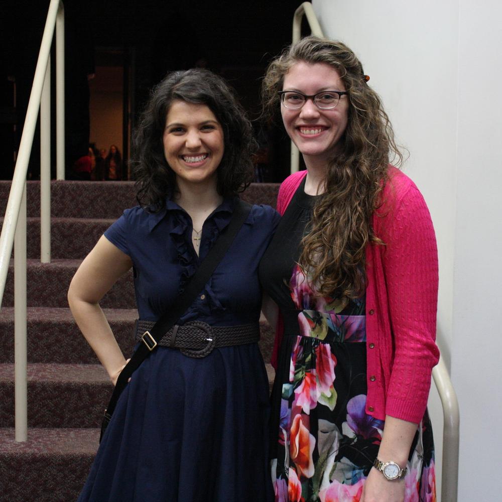 Rachel layfield (right) with sponsor amanda massinople (left)