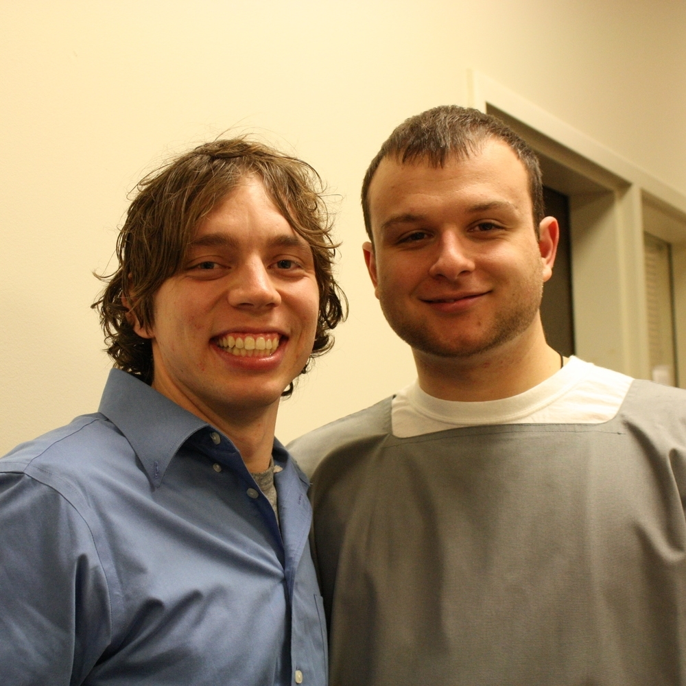 Jeff Good (right) withsponsor samuel jones (left)