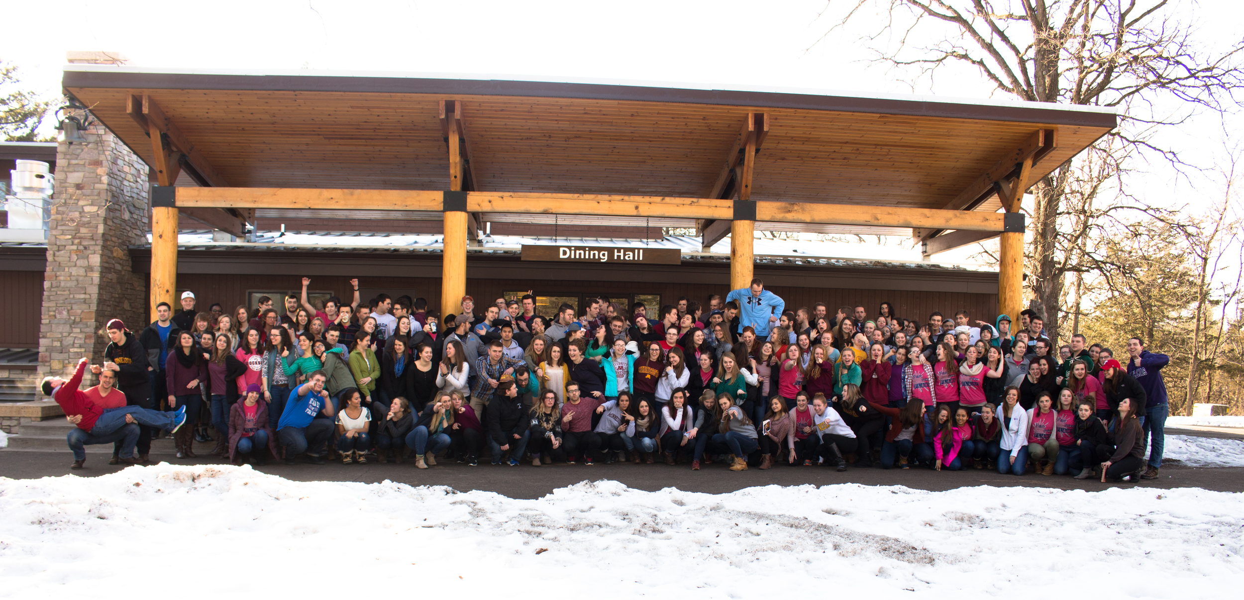 ALL OF THE STUDENTS FROM THE UNIVERSITY OF sT. THOMAS AND UNIVERSITY OF MINNESOTA THAT ATTENDED.IT CAN BE DIFFICULT MANAGING SO MANY PEOPLE FOR JUST ONE PHOTO.