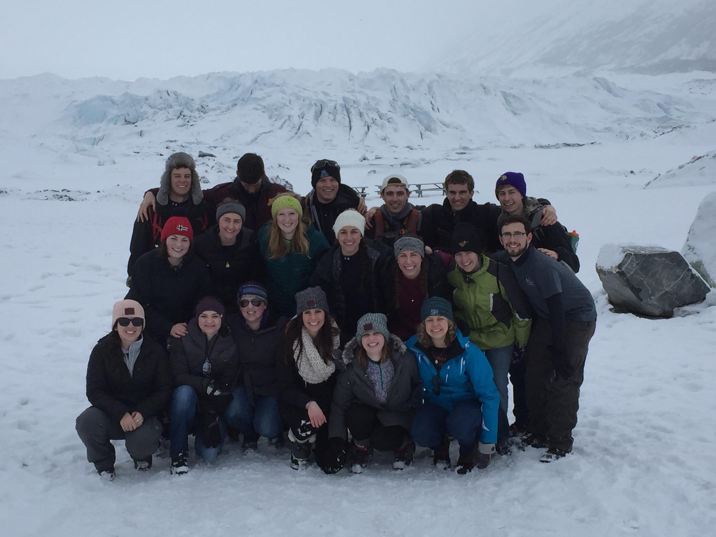 The crew after hiking Matanuska Glacier